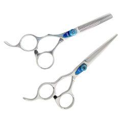 KOBE Blue Left Handed Scissor & Thinner Set