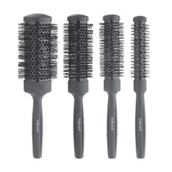 Sibel Ceramic Heat Retaining Black Brush Set Pack 4