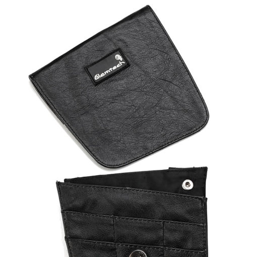 GLAMTECH Black Leather Pouch