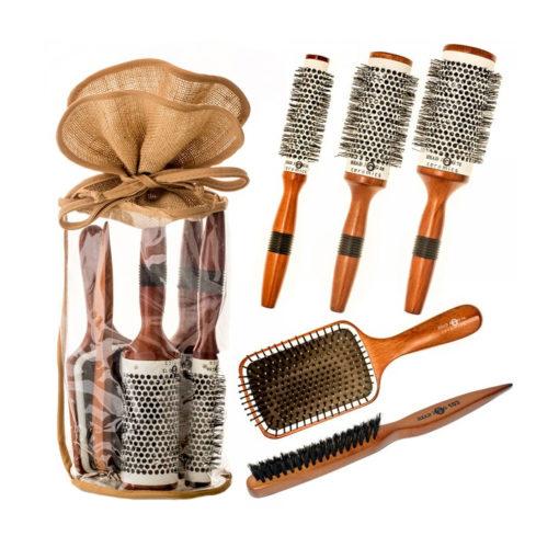 Head Jog Wooden Ceramic Brush Set