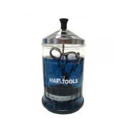 hair tools glass sterilising jar small