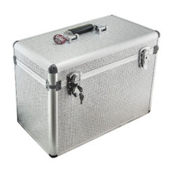 DMi Aluminium Silver Diamante Carry Case