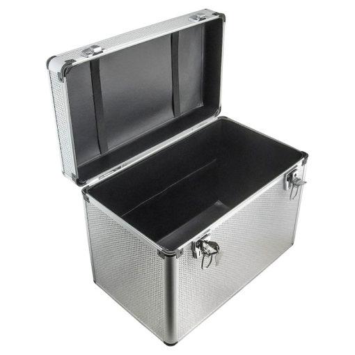 DMi Aluminium Silver Diamante Carry Case