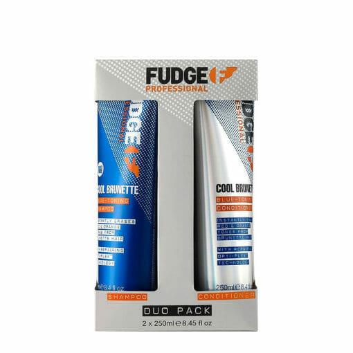 Fudge Cool Brunette Blue Toning Shampoo & Conditioner 250ml Duo