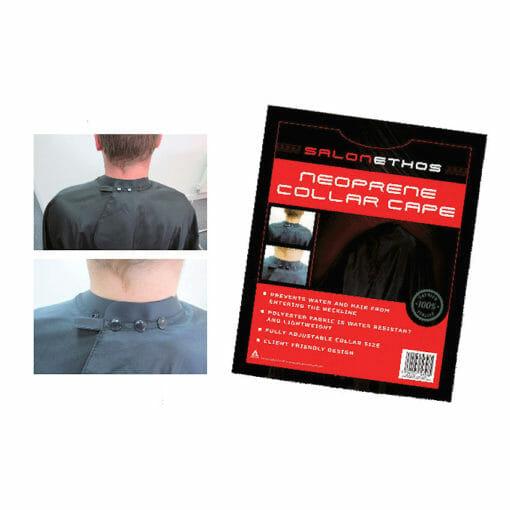Salon Ethos Neoprene Collar Black Cape