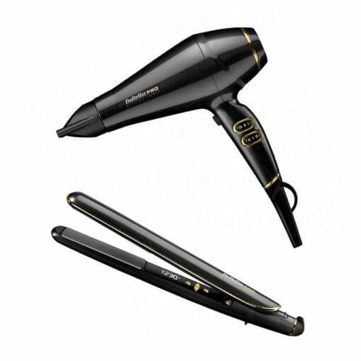Babyliss Pro Keratin Lustre Hairdryer & Straightener Pack