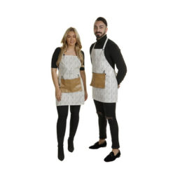 Crewe Barber Black And White Apron