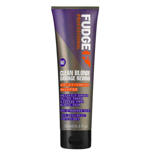 Fudge Clean Blonde Damage Rewind Violet Toning Shampoo