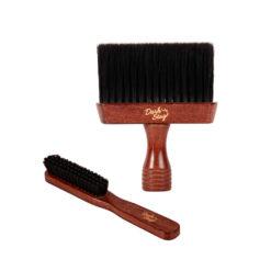 DARK STAG Barbers Neck Brush And Fade Brush Set