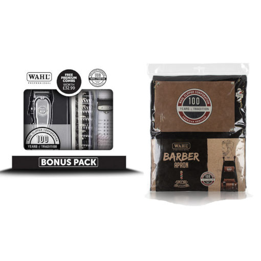 Wahl 100th Year Anniversary Cordless Clipper Special Barbers Pack