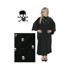 Hair Tools Skull Black Salon Gown