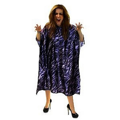 Hair Tools Purple Tiger Print Salon Gown