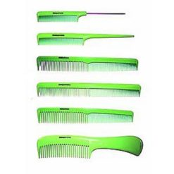 DENMAN Lime Green Hairdressing Comb Kit