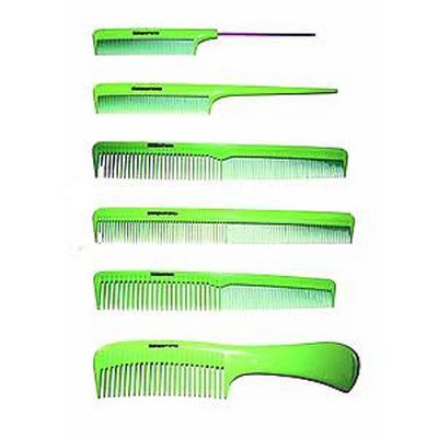 DENMAN Lime Green Hairdressing Comb Kit