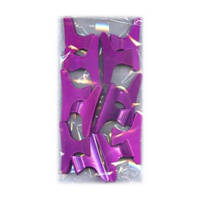 Metallic Pink Large Plastic Jaws Pack 12