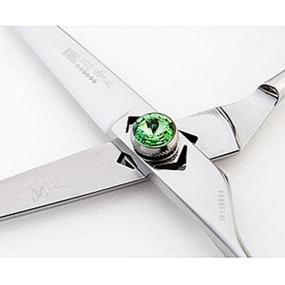 DESIGNDOO Green Blunt Left Handed 5.7 Inch Scissors